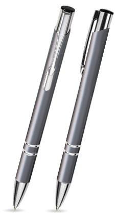 LIBO Grauer Metallkugelschreiber