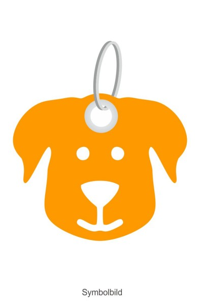 Filz Schlüsselanhänger - Hundegesicht - optional mit Schlüsselring / Werbekarte