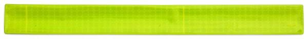 Reflexband mit Metallfeder XXL - neongelb (Größe: ca. 44 cm) - optional mit Siebdruck