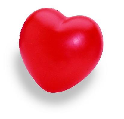 SQUEEZIES® Herz - rot (Größe: ca. 5 cm) - optional mit Tampondruck