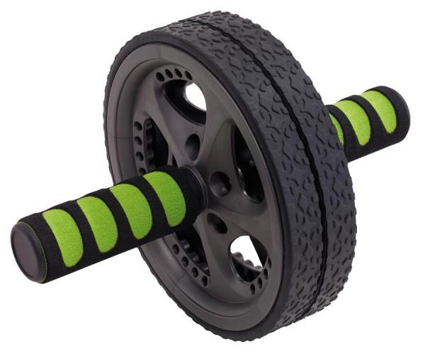 Bauchmuskeltrainer FIT WHEEL in schwarz, grün
