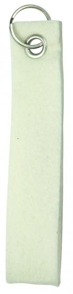 Polyesterfilz-Schlaufe, klein (Filzstärke: ca. 2,5 mm) - weiß - optional mit Siebdrucktransfer