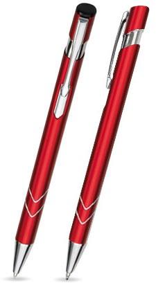 Ein STAR in Rot - hochwertiger Metallkugelschreiber, mit gratis Laser-Gravur