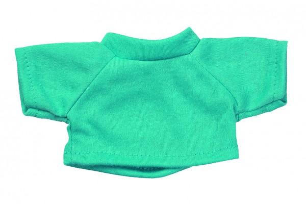 Mini-T-Shirt Gr. S - türkis (Größe: passend für Plüschtiere) - optional mit Siebdrucktransfer