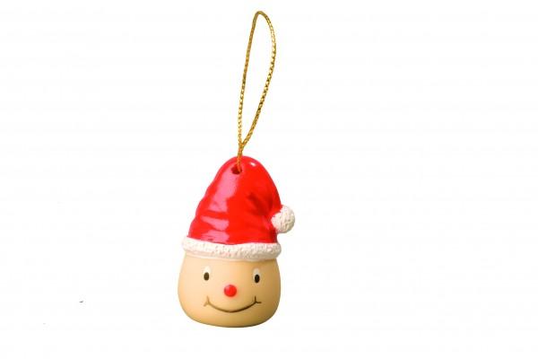 Wanderuper Weihnachtswichtel lächelnd - bunt (Größe: ca. 4 cm)