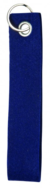 Polyesterfilz-Schlaufe, klein (Filzstärke: ca. 2,5 mm) - dunkelblau - optional mit Siebdrucktransfe