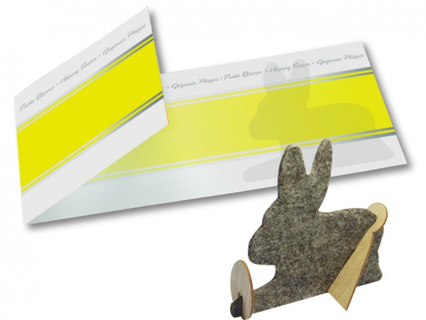 Bastelkarte Hase (ohne Kuvert), 1-4 c Digitaldruck inklusive