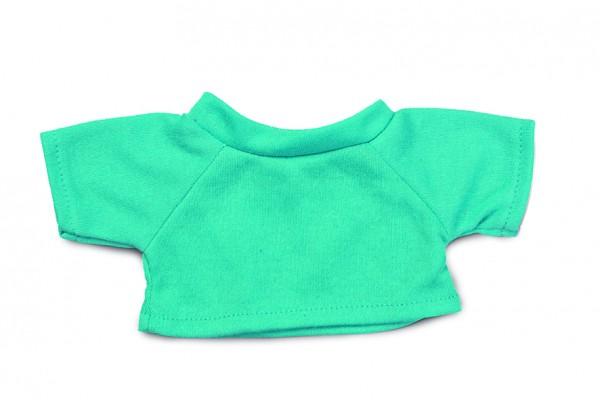 Mini-T-Shirt Gr. M - türkis (Größe: passend für Plüschtiere) - optional mit Siebdrucktransfer