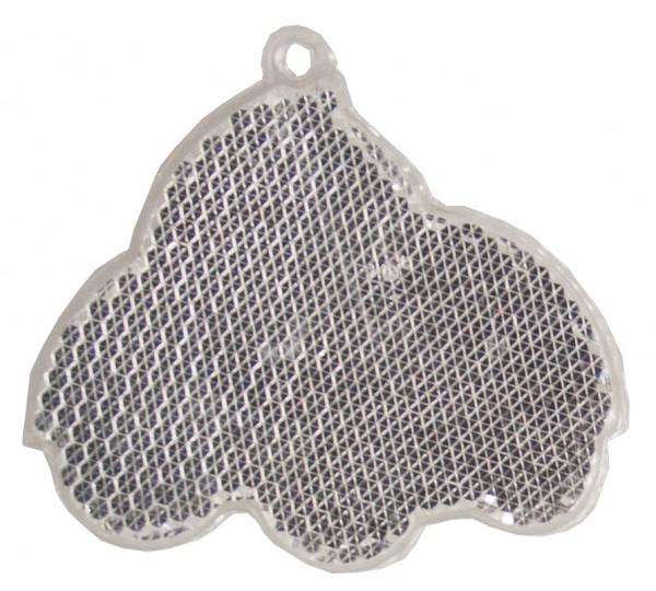 Fußgängerreflektor Auto - weiß (Größe: ca. 6,5 cm) - optional mit Tampon-/Siebdruck