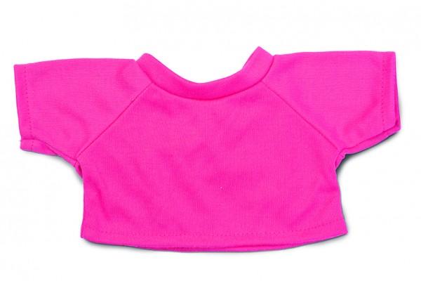 Mini-T-Shirt Gr. L - pink (Größe: passend für Plüschtiere) - optional mit Siebdrucktransfer