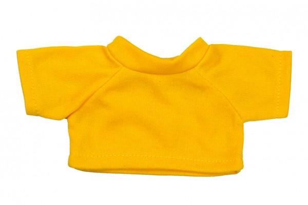 Mini-T-Shirt Gr. S - gelb (Größe: passend für Plüschtiere) - optional mit Siebdrucktransfer