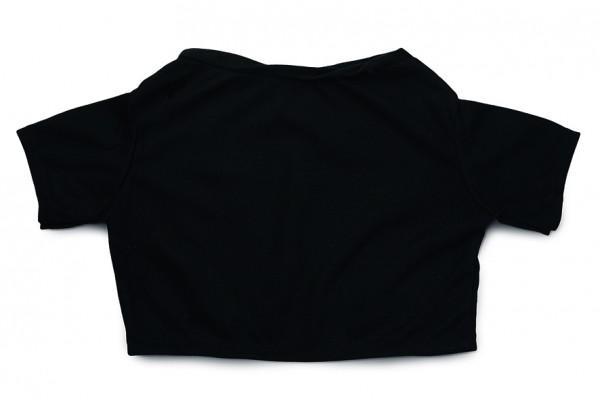Mini-T-Shirt Gr. XXL - schwarz (Größe: passend für Plüschtiere) - optional mit Siebdrucktransfer