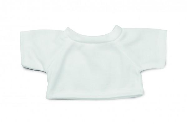 Mini-T-Shirt Gr. M - weiß (Größe: passend für Plüschtiere) - optional mit Siebdrucktransfer, Direktt