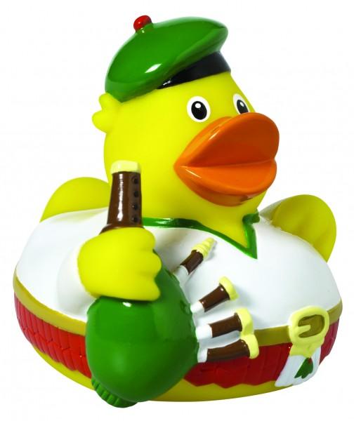 Quietsche-Ente CityDuck® Schottland - bunt (Größe: ca. 8 cm) - optional mit Tampondruck