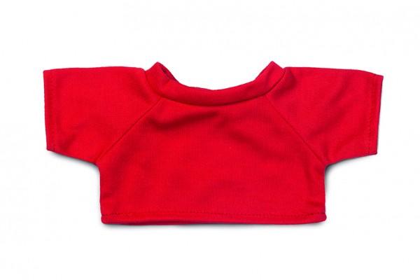 Mini-T-Shirt Gr. M - rot (Größe: passend für Plüschtiere) - optional mit Siebdrucktransfer