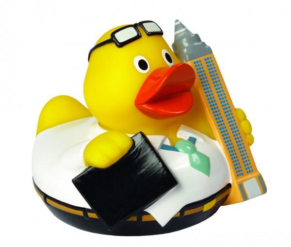 Quietsche-Ente CityDuck® Frankfurt - bunt (Größe: ca. 8 cm) - optional mit Tampondruck