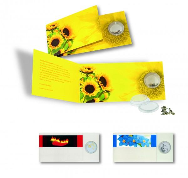 Samen-Karte Sonne, Zwergsonnenblume, 1-4 c Digitaldruck inklusive