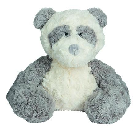 OEKO-TEX® Panda Thore - grau (Größe: ca. 20 cm) - optional mit Siebdrucktransfer, Direkttransfer