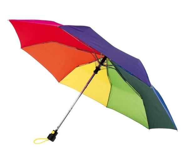 Automatik-Taschenschirm PRIMA in regenbogen