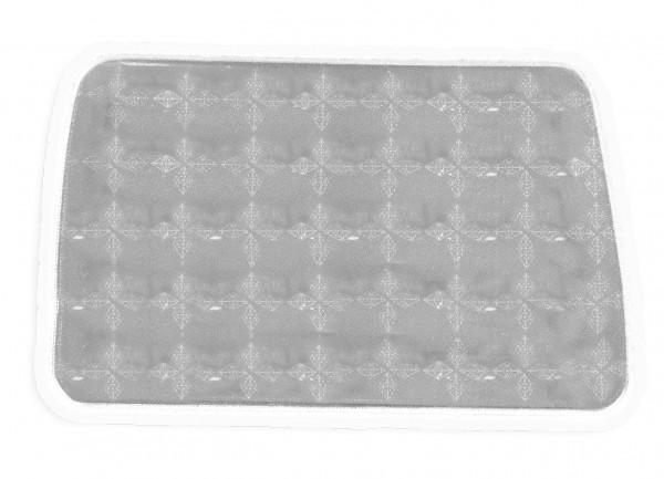 Weichplastiksticker Bus - silber (Größe: ca. 7,3 cm) - optional mit Siebdrucktransfer