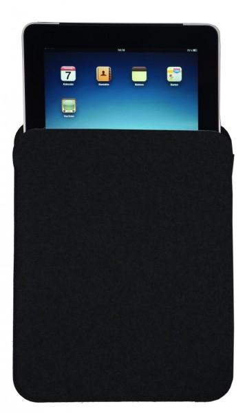 Wollfilz Tablet-PC Tasche (Filzstärke: 3 mm) - optional mit Siebdrucktransfer