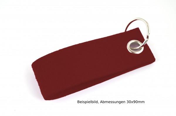 Schlüsselanhänger aus Filz in Bordeaux - Schlaufe ca. 120x30mm - made in Germany
