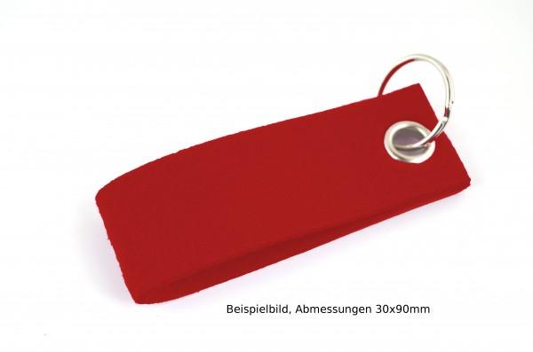 Schlüsselanhänger aus Filz in Rot - Schlaufe ca. 70x25mm - made in Germany