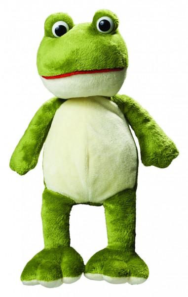 Plüsch Frosch Raphael - grün (Größe: ca. 28 cm) - optional mit Siebdrucktransfer, Direkttransfer