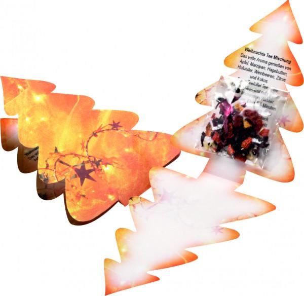 Klappkärtchen Weihnachtsbaum, 1-4 c Digitaldruck inklusive