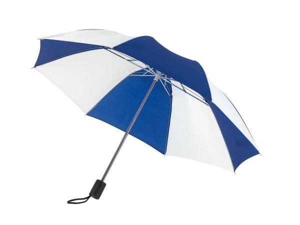 Taschenschirm REGULAR in blau, weiß