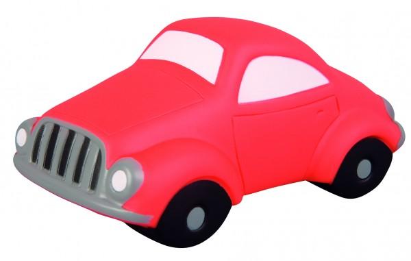 Quietsche-Auto - rot (Größe: ca. 9,5 cm) - optional mit Tampondruck