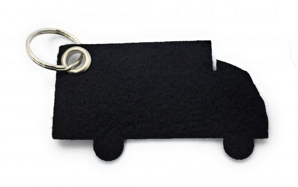 LKW - Schlüsselanhänger aus Filz in schwarz - optional mit Gravur / Aufdruck