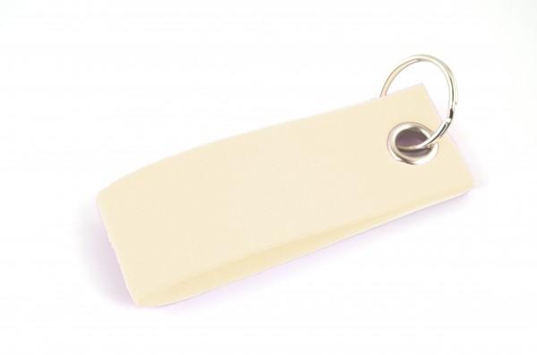 Schlüsselanhänger aus Filz in Creme - Schlaufe ca. 30x90mm - made in Germany