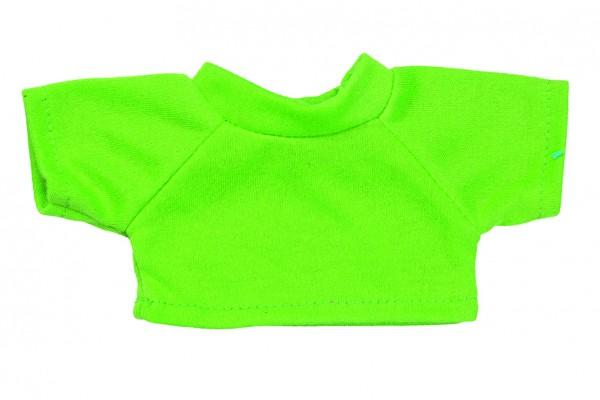 Mini-T-Shirt Gr. S - hellgrün (Größe: passend für Plüschtiere) - optional mit Siebdrucktransfer