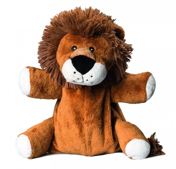 Plüsch Löwe für Wärmekissen - braun (Größe: ca. 24 cm) - optional mit Tampondruck, Siebdrucktransfer
