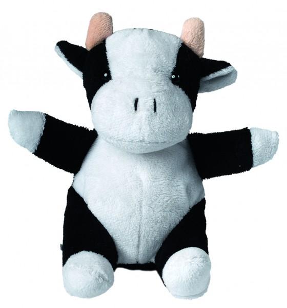 Plüsch Kuh Cordula - weiß/schwarz (Größe: ca. 14 cm) - optional mit Siebdrucktransfer, Direkttransfe