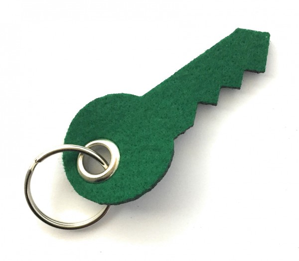 Schlüssel - Schlüsselanhänger aus Filz in waldgrün - optional mit Gravur / Aufdruck