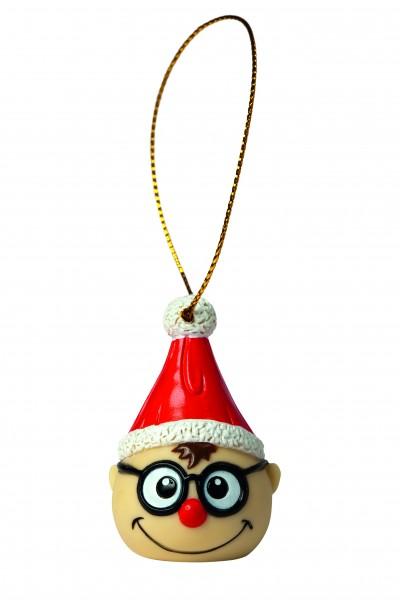 Wanderuper Weihnachtswichtel mit Brille - bunt (Größe: ca. 4 cm)