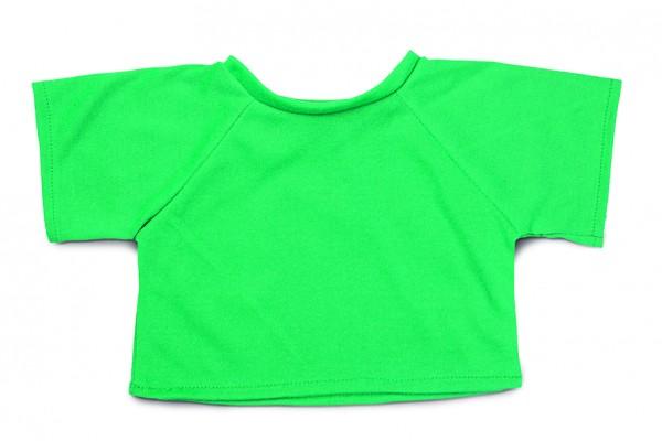 Mini-T-Shirt Gr. XL - grün (Größe: passend für Plüschtiere) - optional mit Siebdrucktransfer