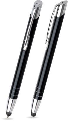 LEILA TOUCH Schwarz glänzender Metallkugelschreiber