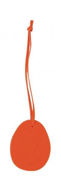 Polyesterfilz Anhänger Osterei klein (Filzstärke: 5 mm) - orange - optional mit Siebdrucktransfer
