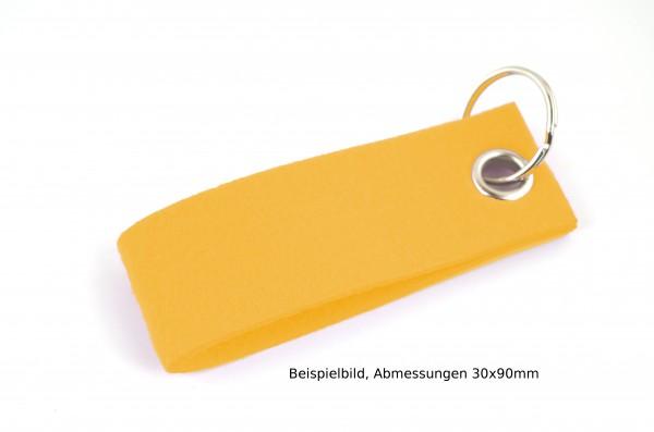 Schlüsselanhänger aus Filz in Gelb - Schlaufe ca. 120x30mm - made in Germany