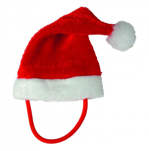Weihnachtsmütze für Plüschtiere Gr. XS - rot (Größe: passend für Plüschtiere)