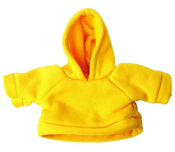 Sweat-Shirt mit Kapuze Gr. S - gelb (Größe: passend für Plüschtiere) - optional mit Siebdrucktransfe