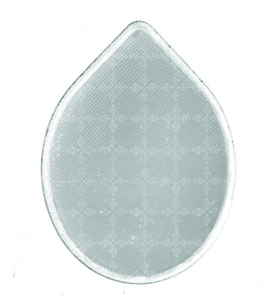 Weichplastiksticker Tropfen - silber (Größe: ca. 5,2 cm) - optional mit Siebdrucktransfer