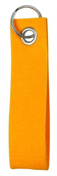 Polyesterfilz-Schlaufe, klein (Filzstärke: ca. 2,5 mm) - gelb - optional mit Siebdrucktransfer