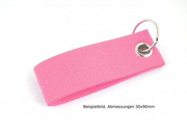 Schlüsselanhänger aus Filz in Rosa - Schlaufe ca. 70x25mm - made in Germany