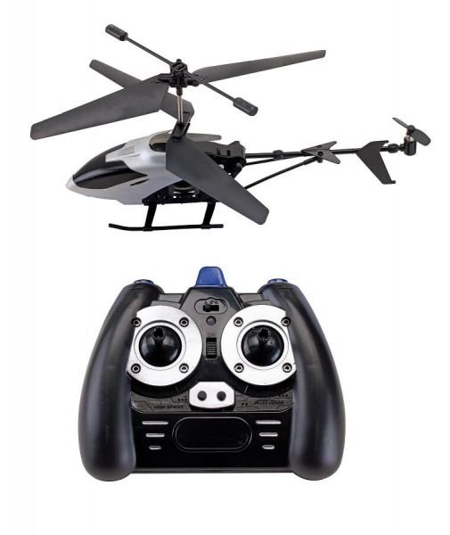 Hubschrauber FLY AWAY in schwarz, silber