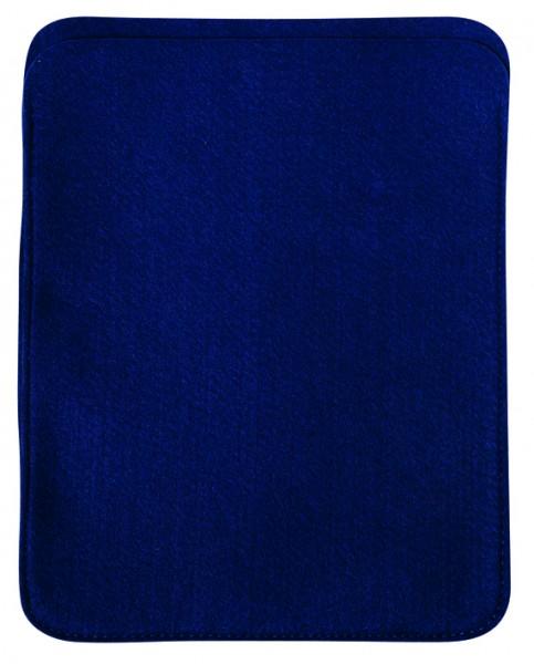 Polyesterfilz Tablet PC-Tasche (Filzstärke: ca. 2,5 mm) - dunkelblau - optional mit Siebdrucktransf