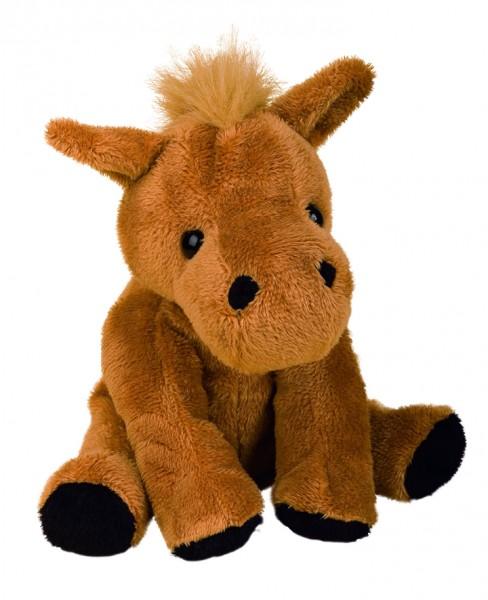 Zootier Pferd Claudia - braun (Größe: ca. 18 cm) - optional mit Siebdrucktransfer, Direkttransfer